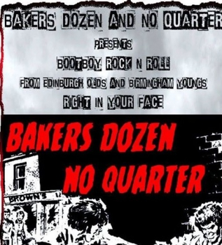 BAKERS DOZEN / NO QUARTER - BOOTBOY ROCK'N'ROLL LP 360 Ex.