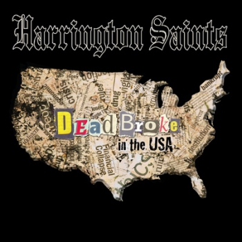HARRINGTON SAINTS – DEAD BROKE IN THE USA LP oxblood