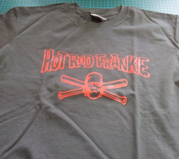 HOT ROD FRANKIE - Logo T-Shirt anthrazit/rot Gr. S