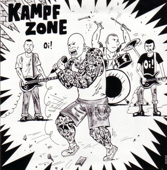 KAMPFZONE / BATTLE SCARRED Split EP