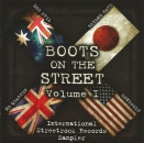 V/A - BOOTS ON THE STREETS LP blau 110 Ex. Doc Evil No Quarter Beyond Hate Lonewolf